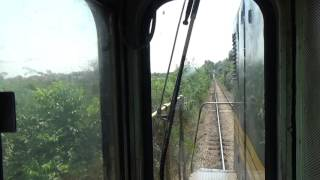 Train Driver's View: Railroad In Serbia From Pancevo Varos To Pancevo Refine