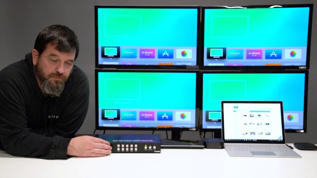 2x2 Video Wall & 4X4 Seamless HDMI matrix