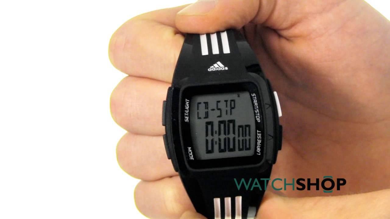 seco depositar medios de comunicación  Adidas Performance Men's Duramo Alarm Chronograph Watch (ADP6093) - YouTube