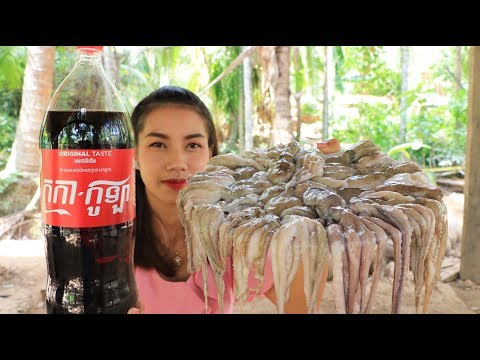 Yummy Cooking Octopus With Cocacola Recipe - Cooking Skill