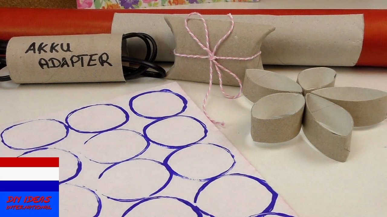 Bekend Creatief met wc-rolletjes | DIY ideeën - YouTube @EF29