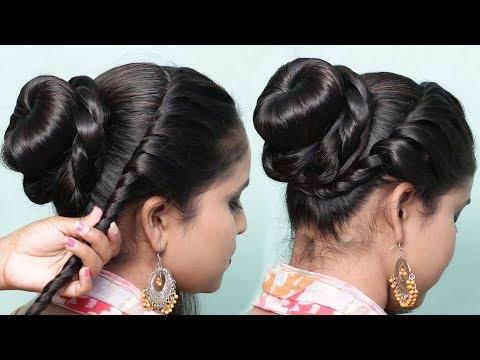Best and Easy Juda Hairstyles   Bridal Bun hair styles   Juda Hairstyles   Wedding hair style thumbnail