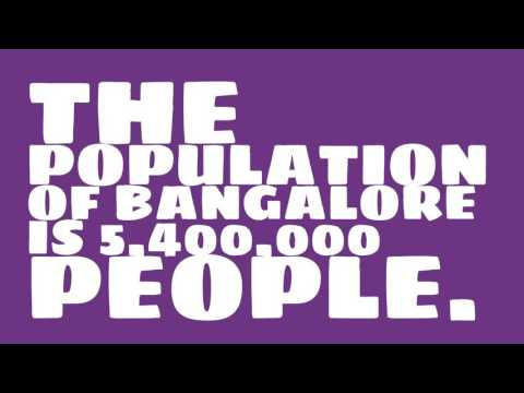 What is the population density of Bangalore?