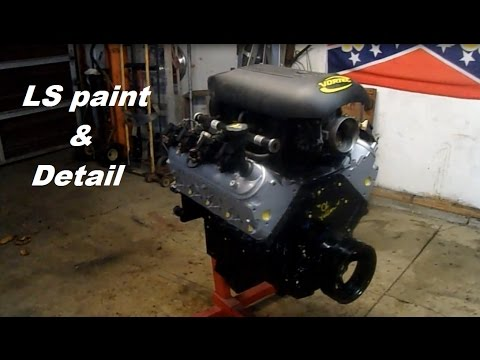 '72 Chevy LS swap part 4 - Painting and detailing the engine