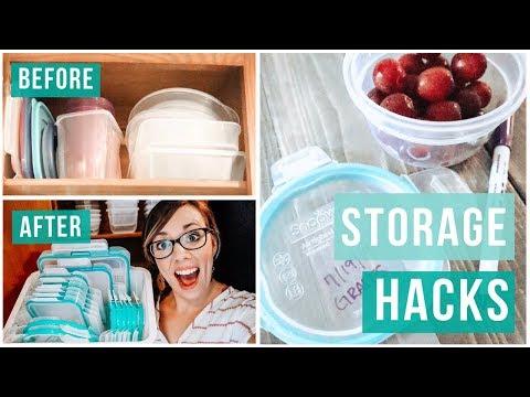 TAME YOUR TUPPERWARE | FOOD STORAGE HACKS