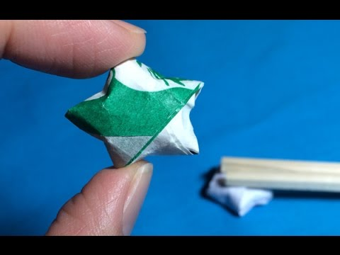 Origami Star Chopstick Rest Folded Out Of A Chopstick Wrapper Youtube