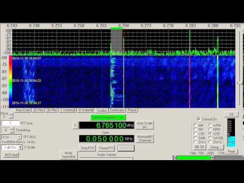 Maritime Weather, Bangkok, Thailand, 6765.1 kHz, USB mode, November 30, 2010, 1600 UTC