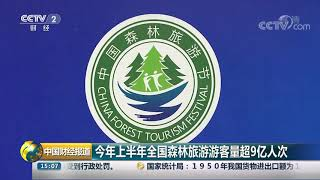[中国财经报道]今年上半年全国森林旅游游客量超9亿人次  CCTV财经