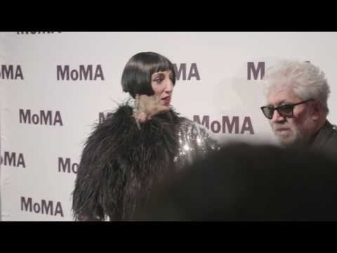 Pedro Almodóvar, Rossy de Palma on the MoMA red carpet  AT THE MUSEUM