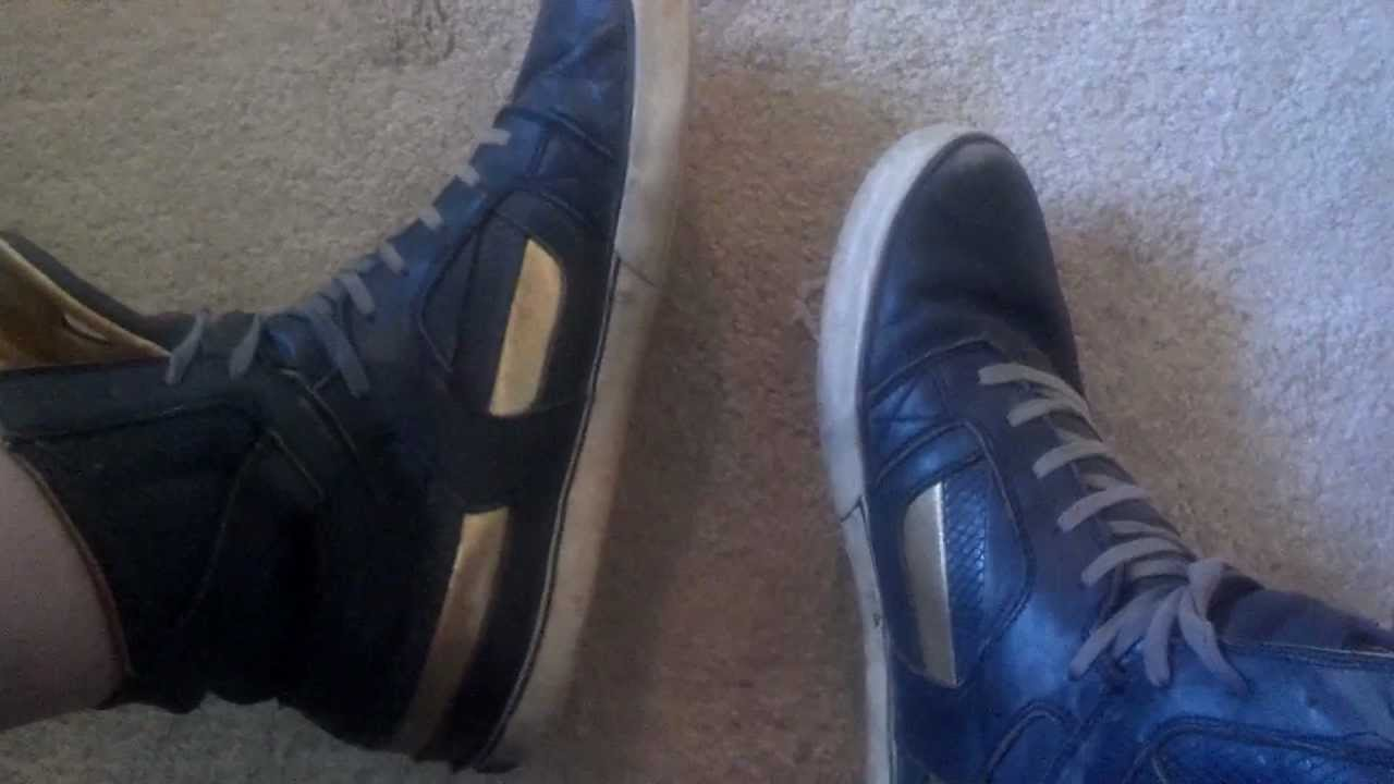 2c5a9bc9fb Supra Skytop II navy gold worn FOR SALE - YouTube