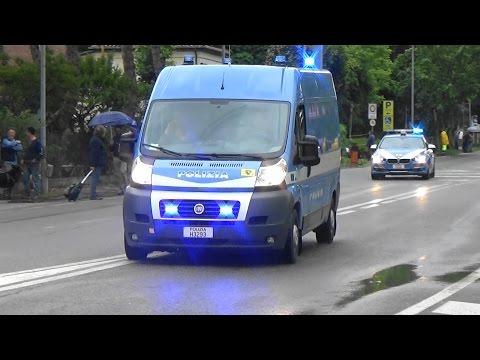 "Polizia stradale in scorta al Giro D'Italia 2016-Italian Police vehicles escorting ""Giro d'Italia"""