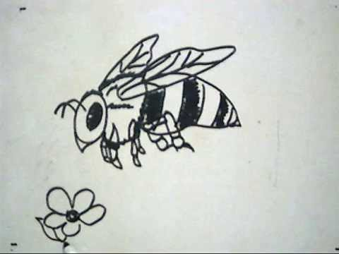 Cara Menggambar Lebah How To Draw A Bee Youtube