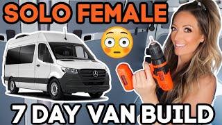 FIRST DAY OF TΗE VAN BUILD // Putting in Insulation // 7 Day Van Build // GiRL vs VAN Ep. 5
