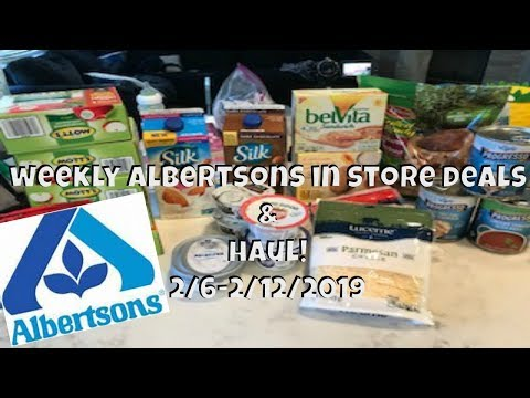WEEKLY ALBERTSONS IN STORE GROCERY DEALS & HAUL!