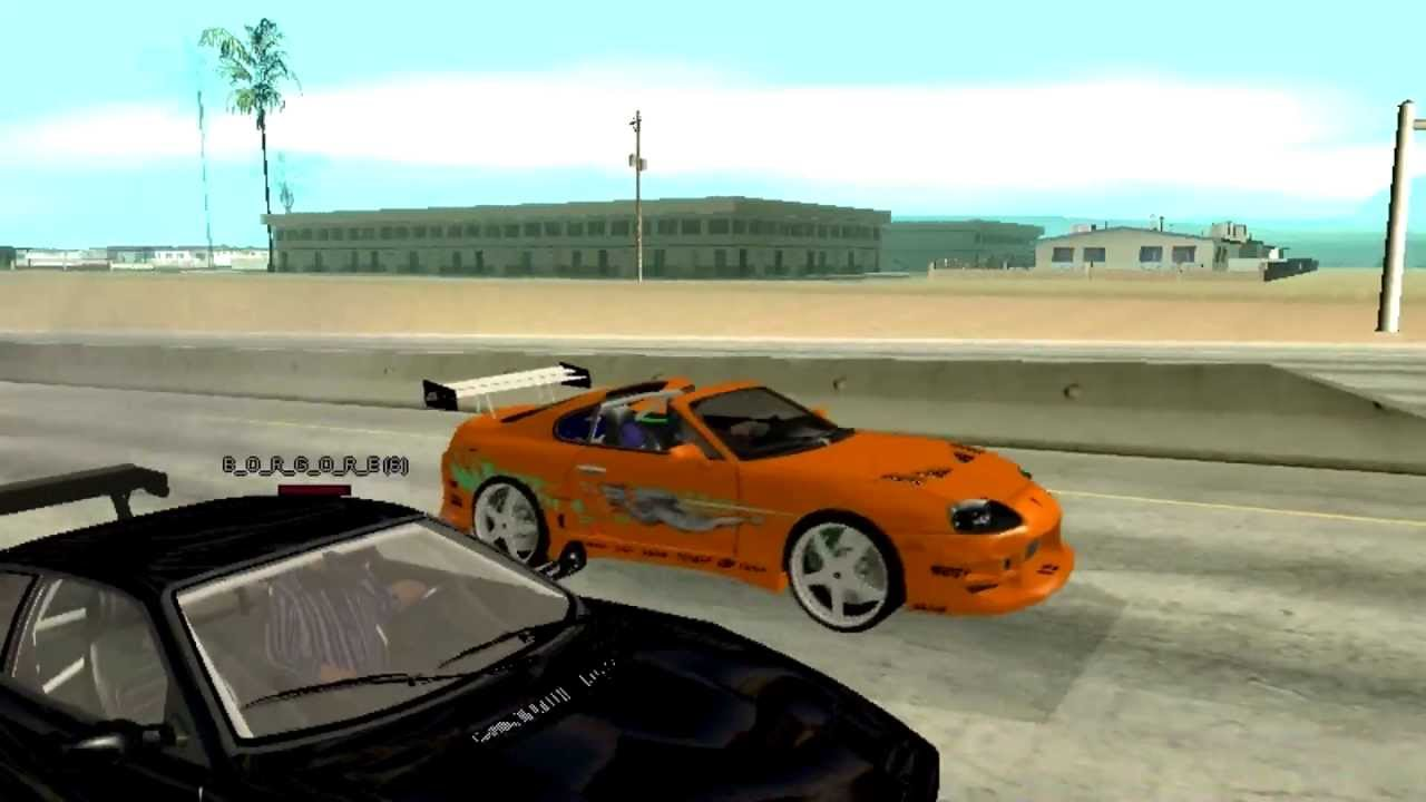 Ferrari Vs Toyota >> Gta The Fast And The Furious Ferrari Vs Toyota Supra Drag Race