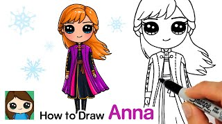 How to Draw Anna | Disney Frozen 2