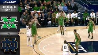 Marshall vs. Notre Dame Condensed Game | ACC Men's Basketball 2019-20