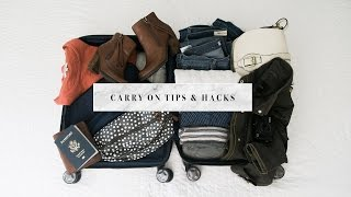 Carry On Packing Hacks & Tips