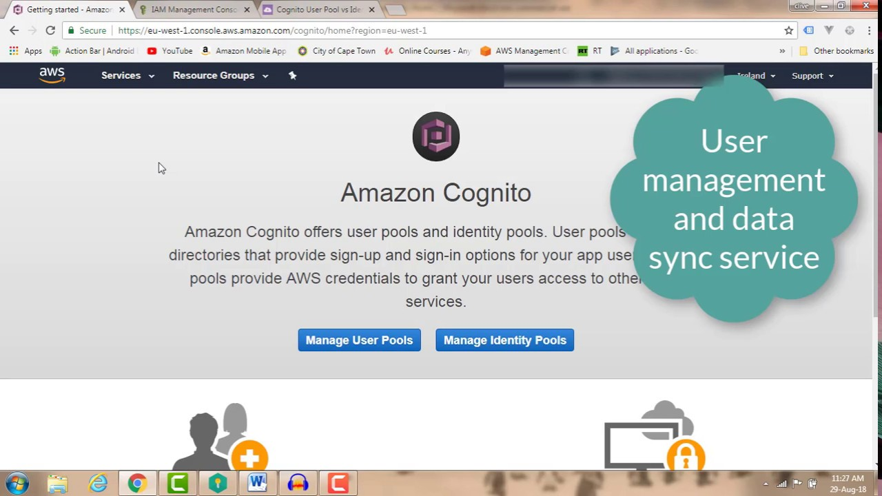 AWS Cognito: How to create an Identity Pool