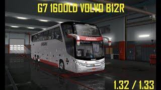 Ets 2 : MOD BUS G7 1600 LD VOLVO B12R  COM 15 SKINS BRASILEIRAS |+DOWNLOAD|