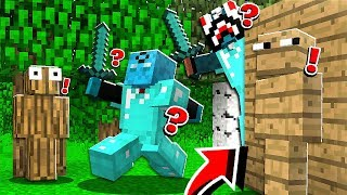 INVISIBLE SKIN TROLLING IN MINECRAFT! with RageElixir & BrandonCrafter