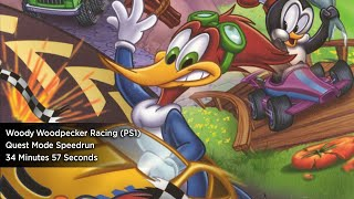Woody Woodpecker Racing Quest Mode (PSX) 34:57 (WR)