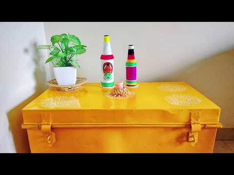 How to upcycle an old Trunk | Metal trunk Makeover | Home Decor Ideas | DIY