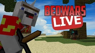 Minecraft | Live Hypixel Bedwars on Hypixel playing Minecraft not Roblox