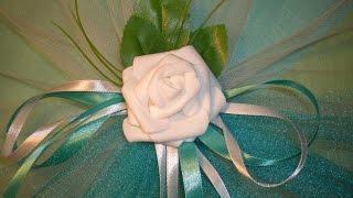 Украшение на двери свадебного автомобиля своими руками.  / DIY Flowers Wedding