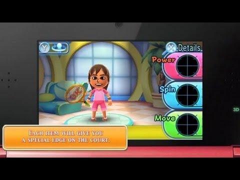 Mario Tennis Open 3DS :  Mii Trailer