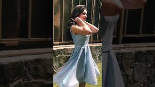 P 0997 2 Платье коктейльное из струящегося люрикса video