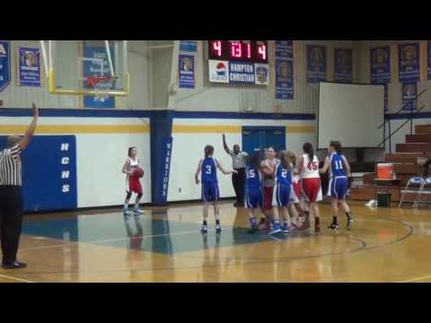 DBCS Middle School Girls  VS Williamsburg Christian Academy 1 Feb 14
