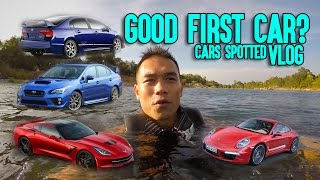 What is a Good First Car - Cars Spotted on Sacramento Road Trip Vlog Smurfinwrx