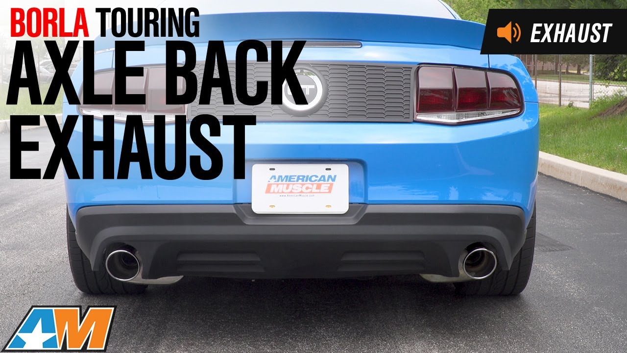 2013 2014 mustang gt borla touring axle back exhaust sound clip install