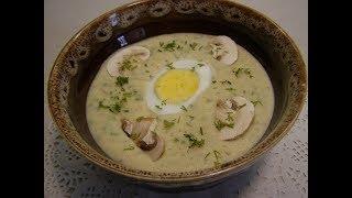 Ароматный грибной крем- суп с плавленым сыром🥣Mushroom cream- soup with cheese