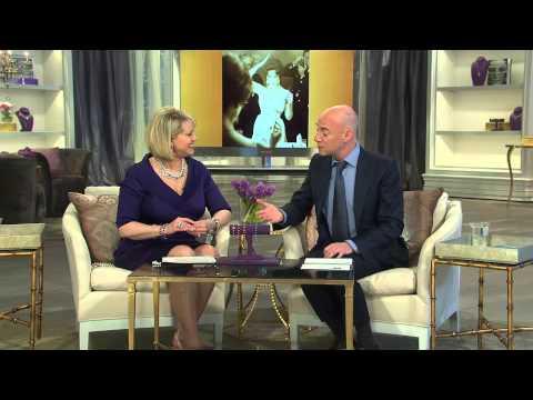 Shps 4/20 ElizabethTaylor Simulated Sapphire Tennis Bracelet with Mary Beth Roe