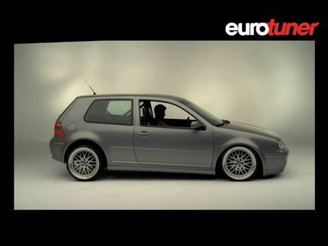 VW Golf GTI on Air Suspension - YouTube