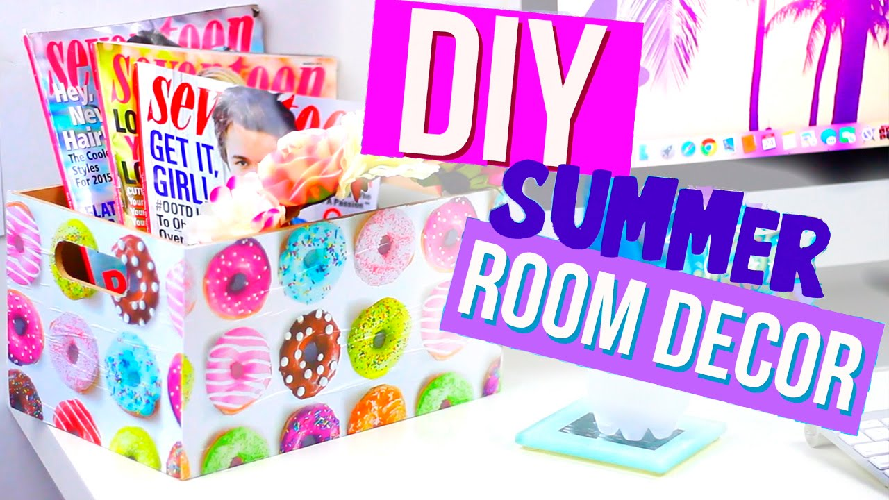 Diy summer room decor with hellomaphie youtube for Diy room decor zoella