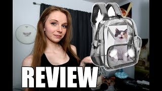 SLOWTON CLEAR PET CARRIER REVIEW - I'M NOT A CRAZY CAT LADY