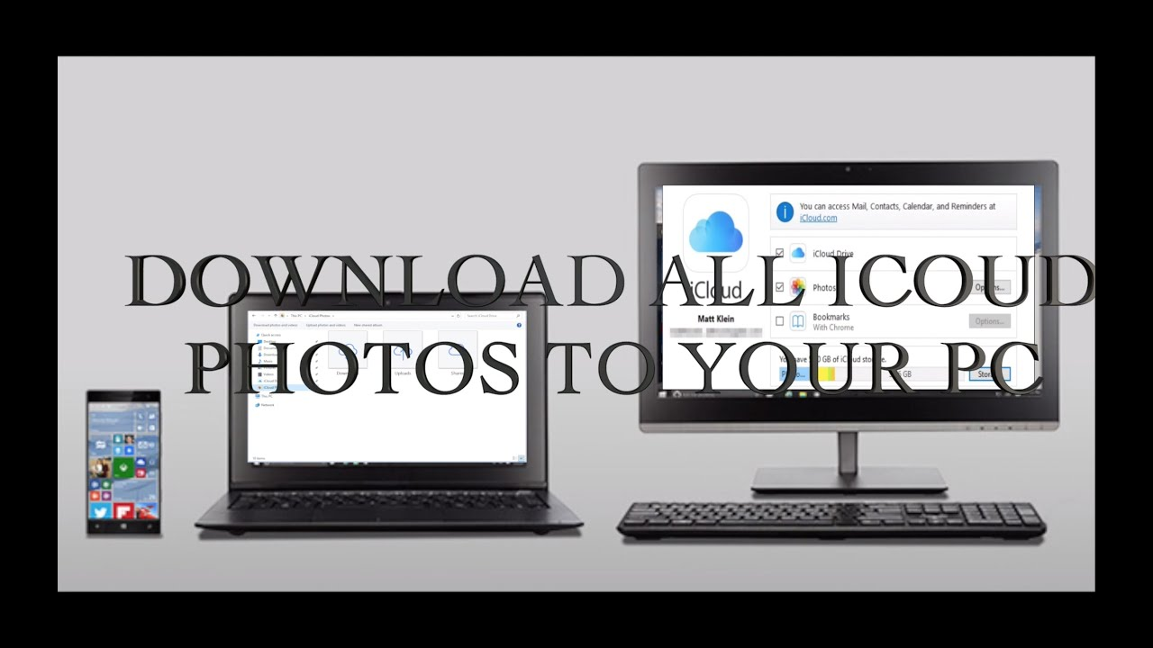 How to Download iCloud photos from Windows PC 7 , 8 , 10 PC