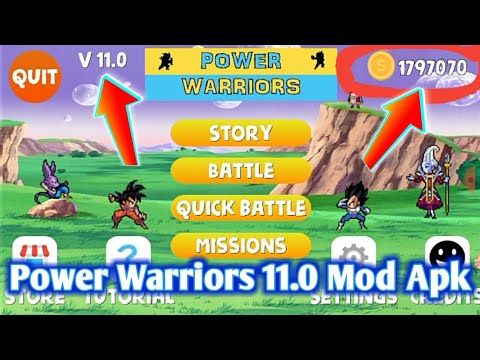 Power Warriors 11.0 Mod Apk Download With New Unlimited Coins Mod - 동영상