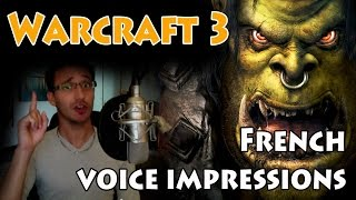Warcraft 3 - Doublage des voix (french VOICE IMPRESSIONS)