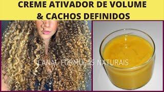 Creme Ativador De Volume E Cachos Definidos