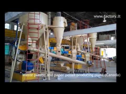 Waste paper and plastic pellet producing plant (Canada)