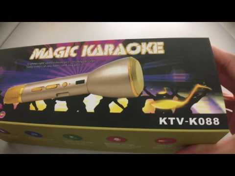 Magic Karaoke KTV- K088 | Wireless Bluetooth Singing Microphone For Phone |  麦克风手机卡拉OK话筒