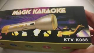 Magic Karaoke KTV- K088 | Wireless Bluetooth Singing Microphone For Phone | 麦克风手机卡拉OK话筒