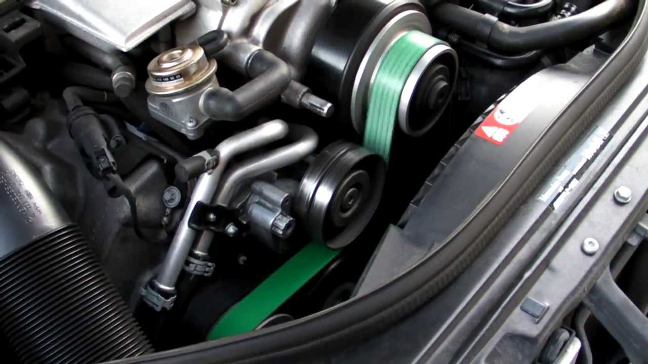Mercedes E55 AMG 83mm Supercharger Pulley - Revving and Whistling