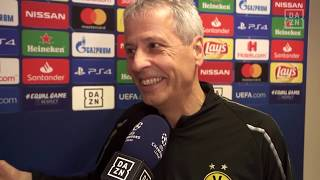 Lucien Favre im Interview mit DAZN vor Monaco vs Dortmund