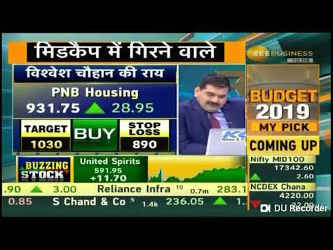 DD Sharma ke Budget my Pick 'Jain Irrigation' given on 24 Jan 19 at Zee Business