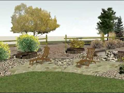Long Driveway Landscape Design - YouTube on Long Backyard Landscaping Ideas id=18745
